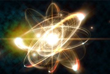 A visual representation of a nuclear fission