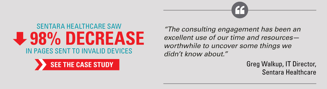 Sentara Healthcare saw 98% Decrease in pages sent to invalid devices - See The Case Study