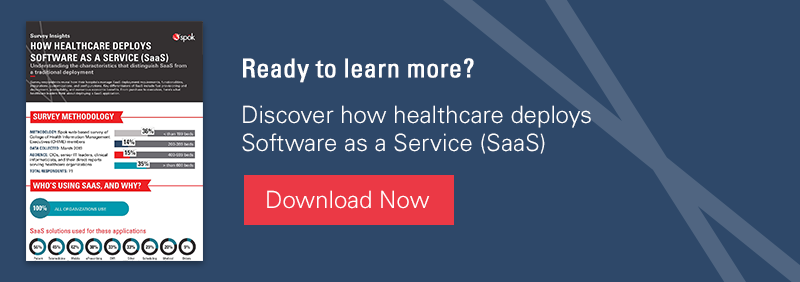 Ready to learn more? Discover how healthcare deploys Software as a Service (SaaS)
