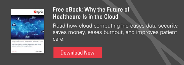Free eBook: Why the Future of Healthcare is in the Cloud - Read how cloud computing increases data security, saves money, eases burnout, and improves patient care. Download Now.