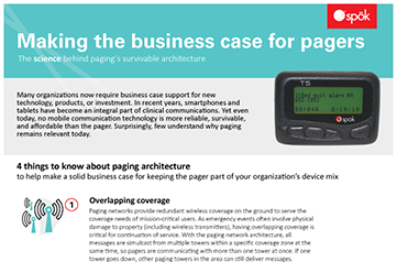 Making the Business Case for Pagers document