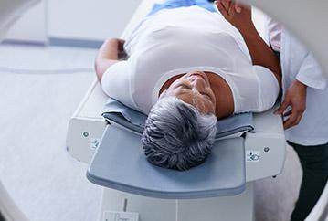 Woman going into MRI Machine