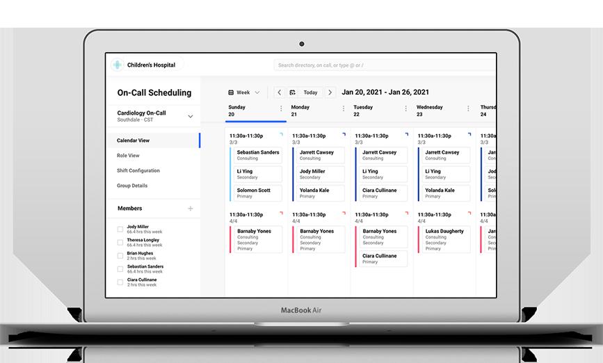 Desktop screenshot of scheduling