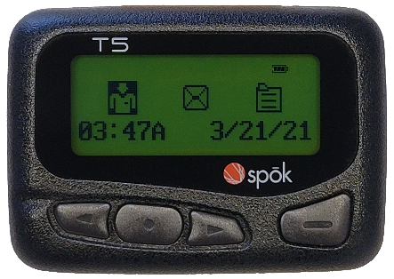 Pager with date and notifications